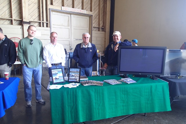 The crew, ready to go, just before the gate opened. Lots of great handouts and publications to give away and we showed a nice set of quick videos on soaring that got a lot of attention.